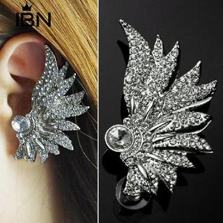 Cod Ibn 1 Pc Punk Wing Ear Cuff Rhinestonn Stud Earring