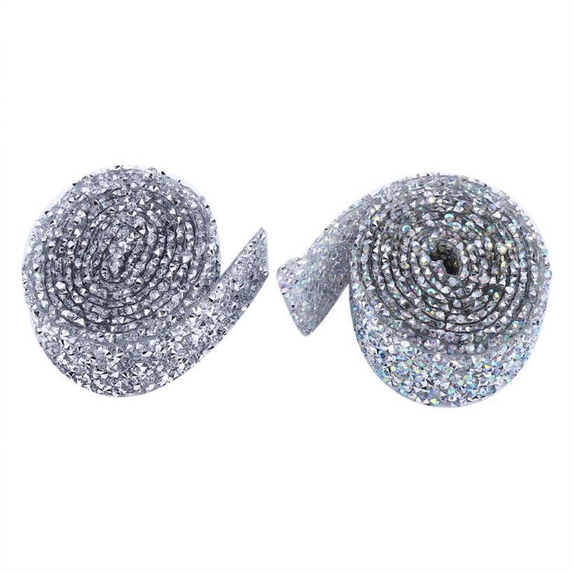 3cm 1 Yard Diamante Rhinestone Sparkling Banding Wedding Decor Mesh Trim Ribbon