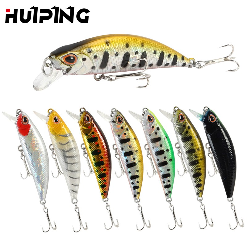 10pcs Lot Minnow 3D Eyes Baits Wobbler Fishing Lures Bass Bait Tackle 10cm//17g