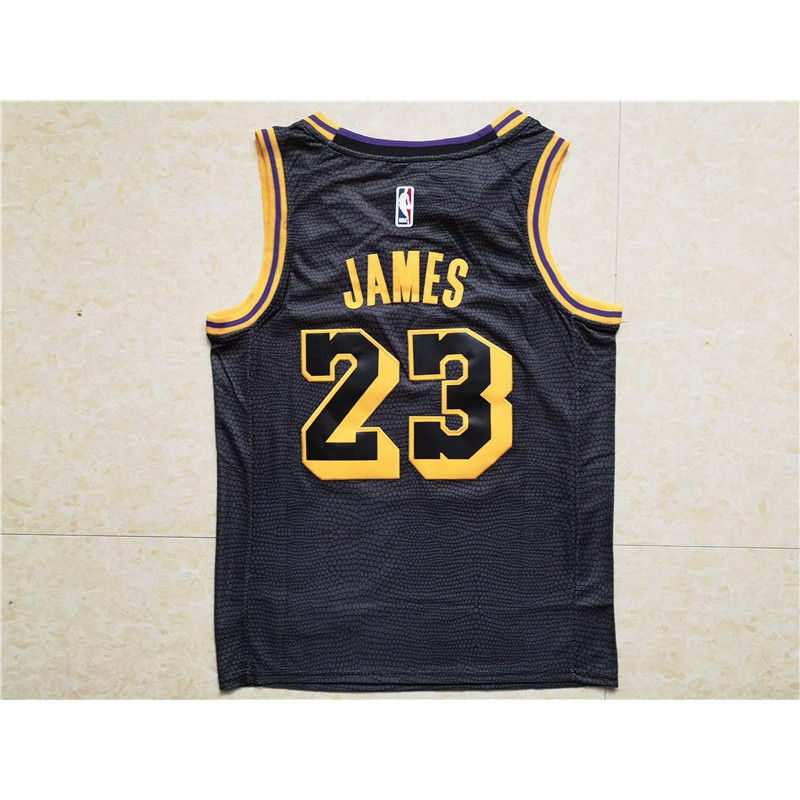 quality design 792db f7d5f (Brandstore) Nike 2018 Original Los Angeles Lakers LeBron James #23 Black  basketball jerseys S-XXL