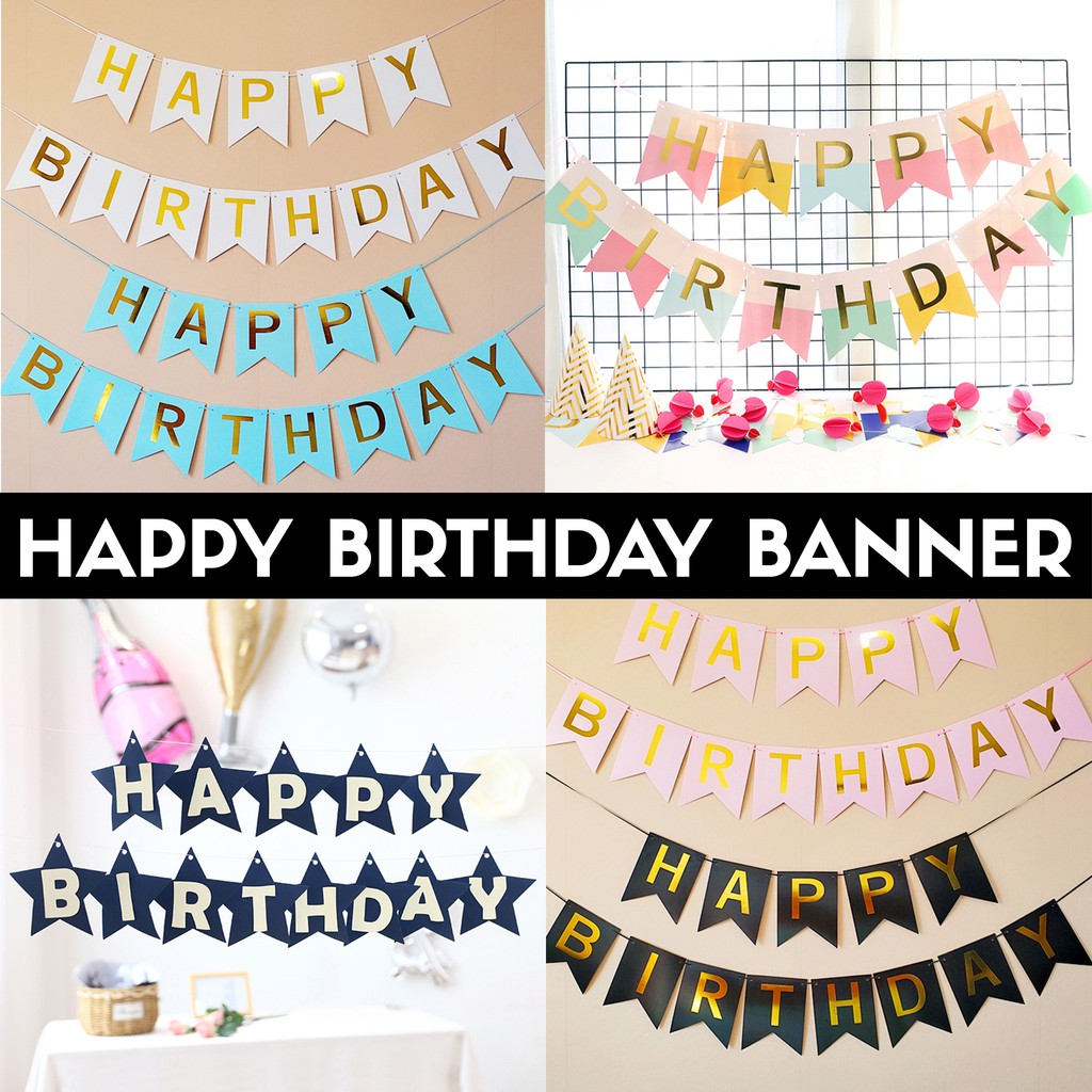 Party Bunting  Banner  Garland  Birthday Graduation  Anytime Decoration
