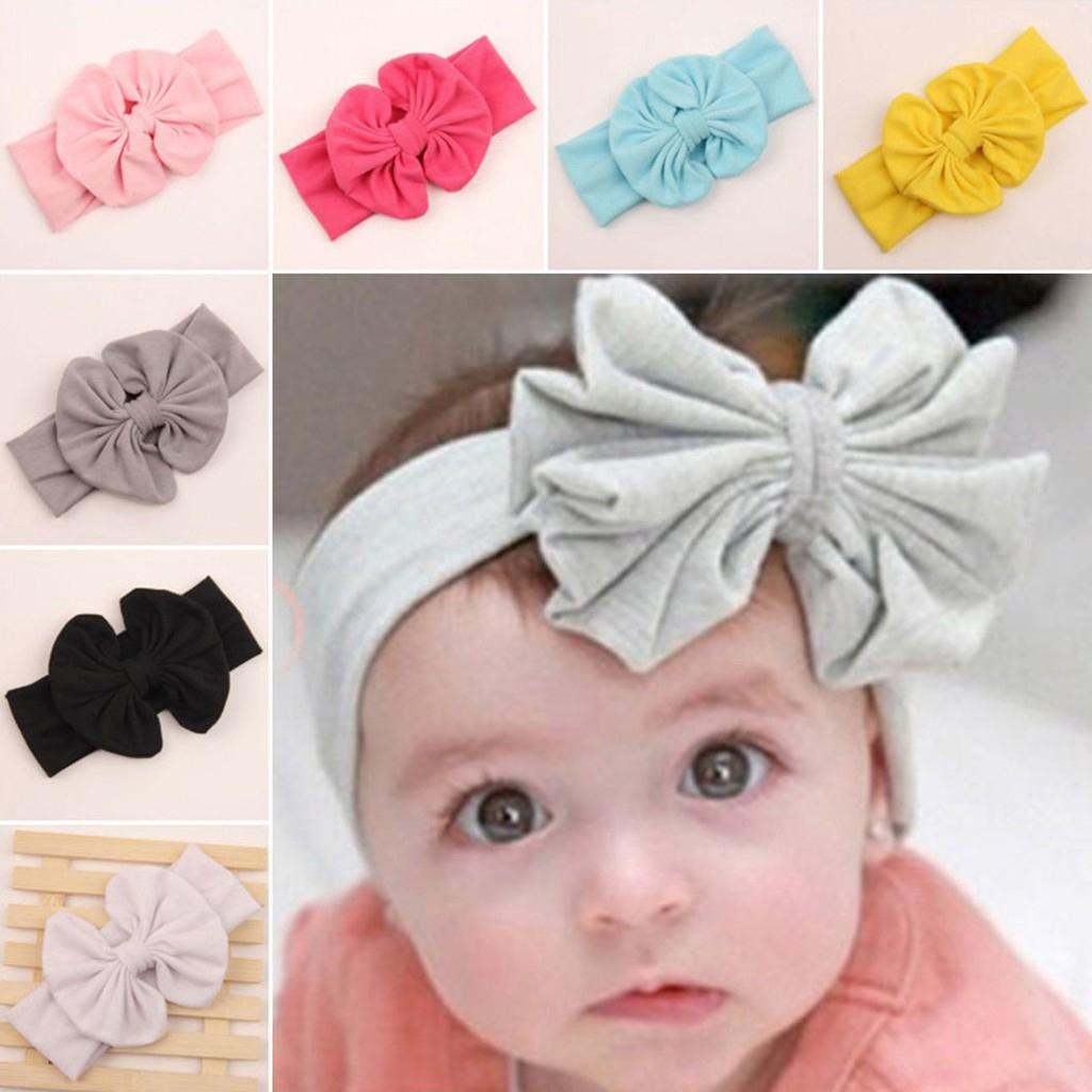 handmade baby turban Head wrap for baby stretchy headband baby head wrap knit fabric knot bow Sunrise one size baby stretchy