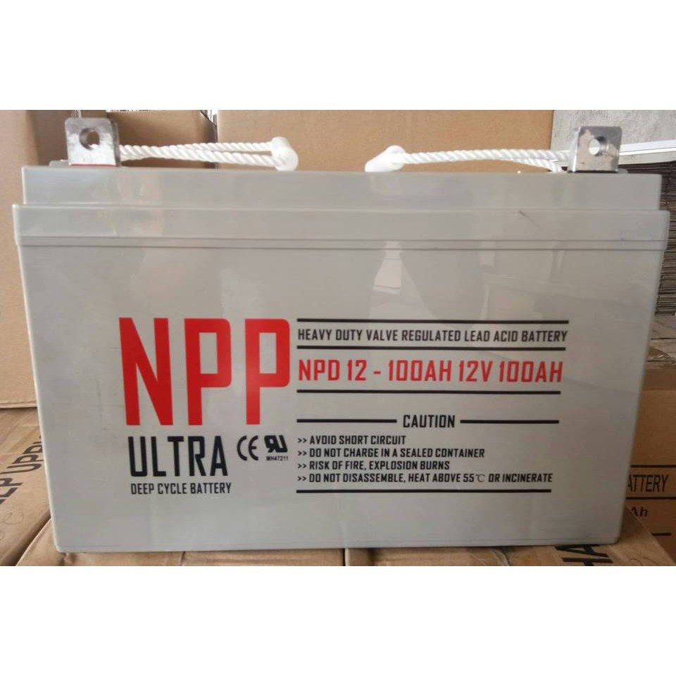 Genuine NPP 100AH Deep Cycle Solar Ebike UPS Battery
