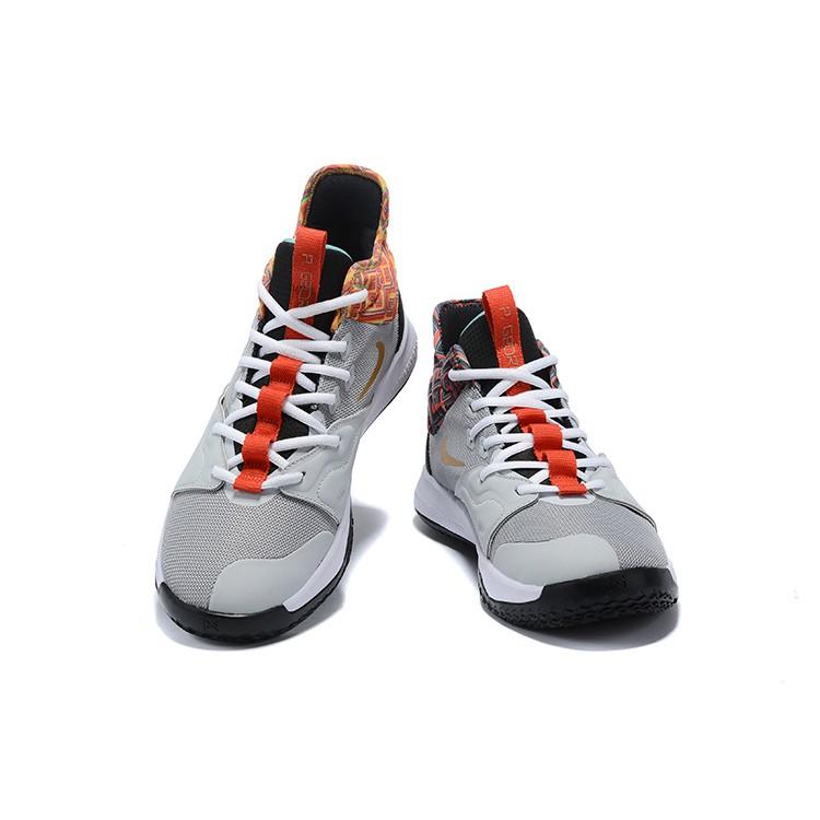 wholesale dealer da153 28082 2019 Nike Paul George 3 PG 3 Men Shoes Gray Basketball Shoes