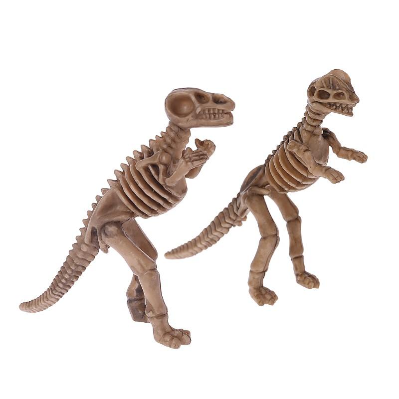 12pcs Per Set Dinasour Bone Fossil Kids Toys birthday Gift Resin Collection