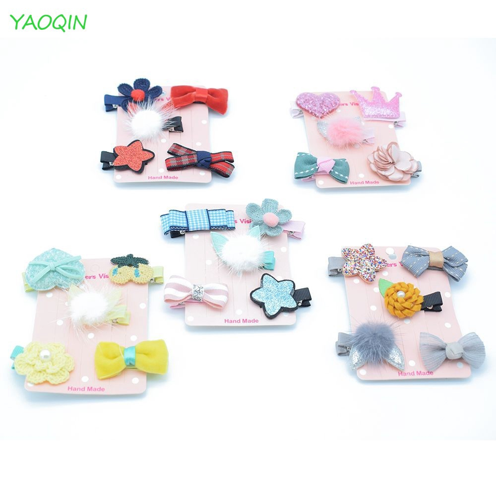 Hairpin Lots Clip Star Bow 5Pcs//set Flower Cute Hairpins Barrettes Clips Baby