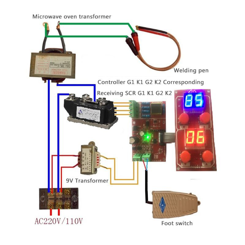 Ny D05 Spot Welder Controller Kit 500a Driver Scr Controllable Module Board Shopee Philippines