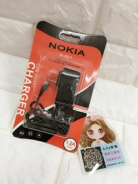 Nokia Small pin and Android charger with light