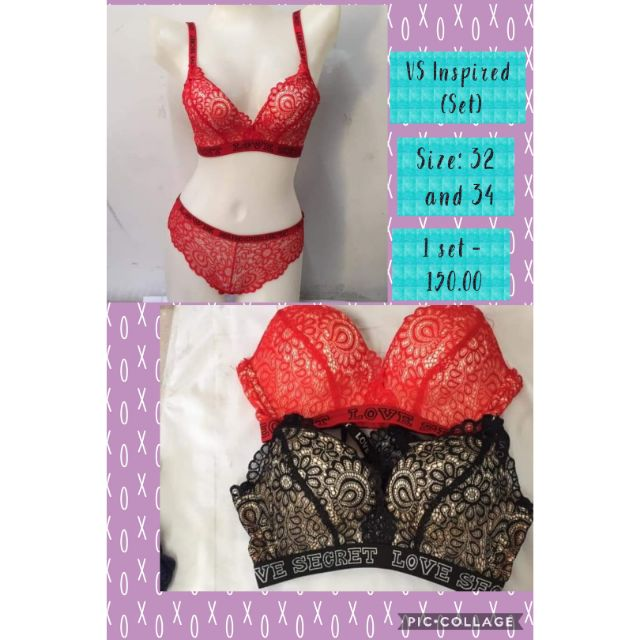 COD - SM MALL PULL OUT - Bra and Panty Set