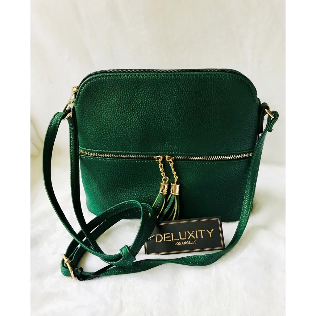 Deluxity Green Crossbody Bag Sho