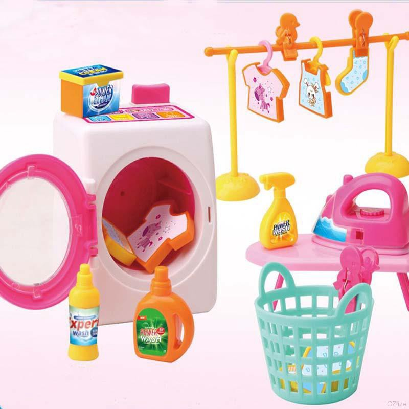 Simulation Furnitures Model Washing Machine Mini Role Play Toys for Kids