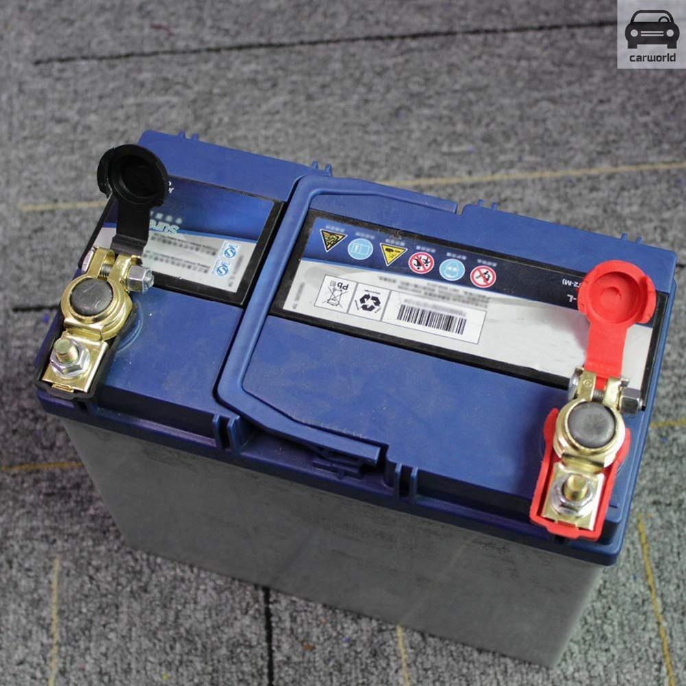 2PCS Auto Car Battery Terminal Clamp Clip Connector Adjustable Positive+Nagative