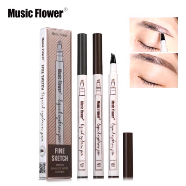MUSIC FLOWER LIQUID EYEBROW PEN(water proof)