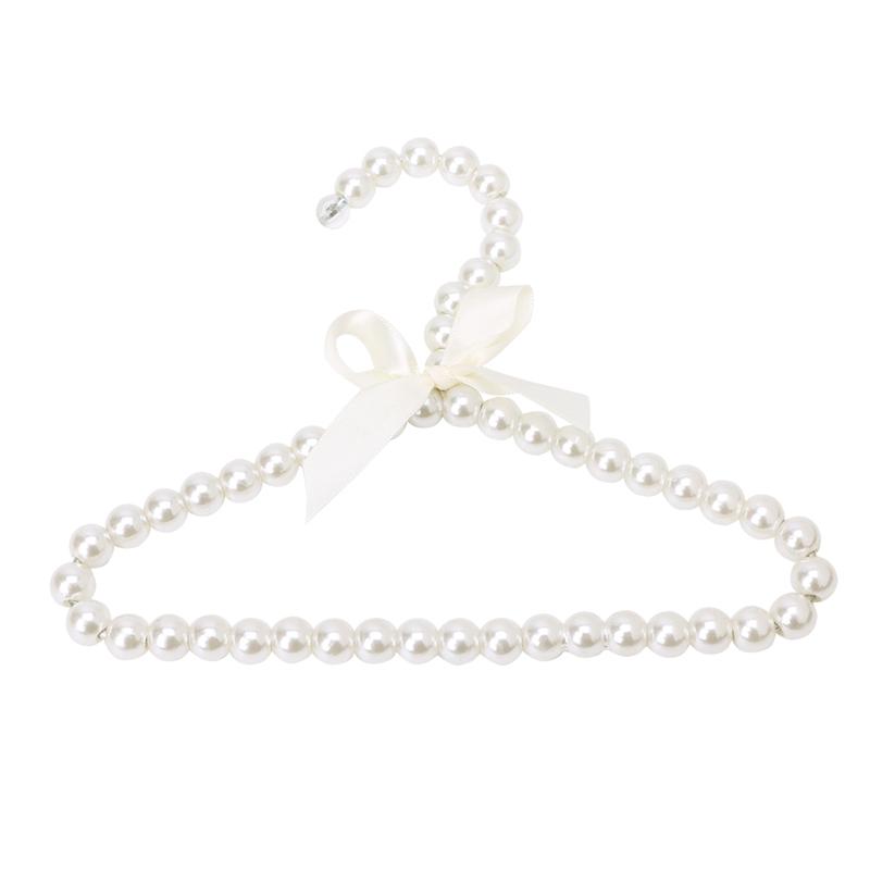 5Pcs Pet Plastic Pearl Bow Clothes Hanger For Dog Cat Kid Children