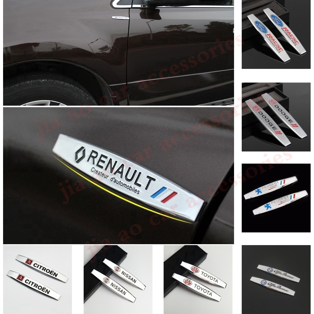 2Pcs Mazda Chrome Metal Car Trunk Side Fenders Door Emblem Badge Decal Sticker