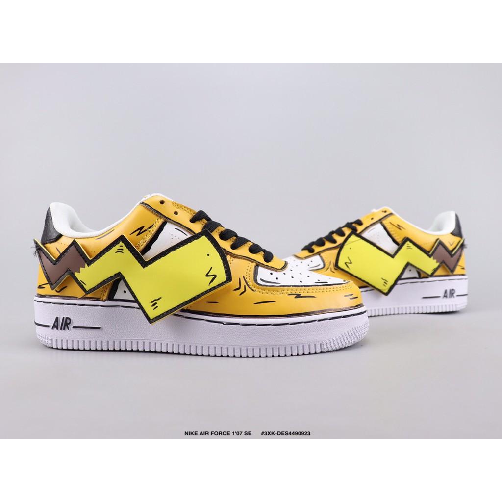 NIKE AIR FORCE 1'07 SE Pikachu custom models Low top shoes