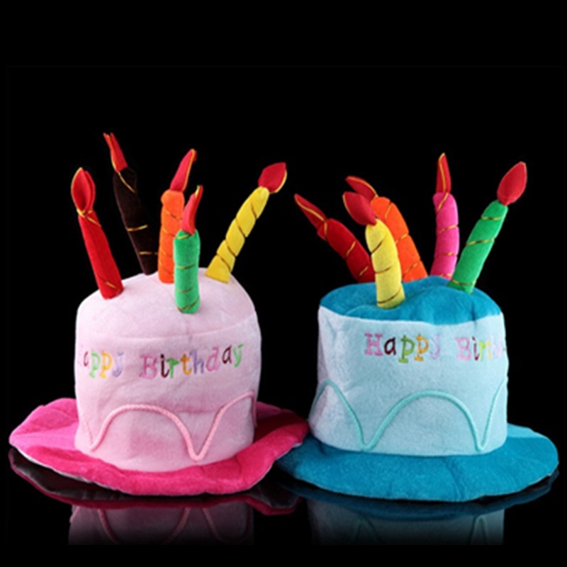 Fine Plush Happy Birthday Cake Hat Unisex Adult Kids Size Fancy Dress Funny Birthday Cards Online Elaedamsfinfo