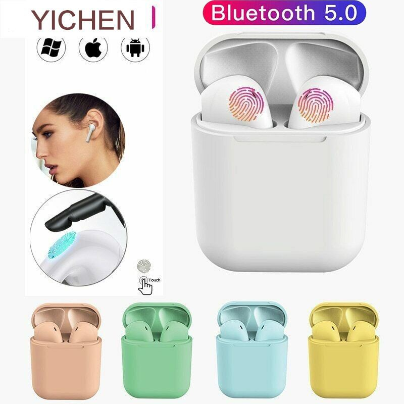 Frosted & Touch Inpods12 12s Wireless Bluetooth Earphones TWS Macaron Color, Android / IOS Bluetooth Headset