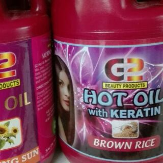g2 hot oil with keratin brown rice half gallon | Shopee Philippines