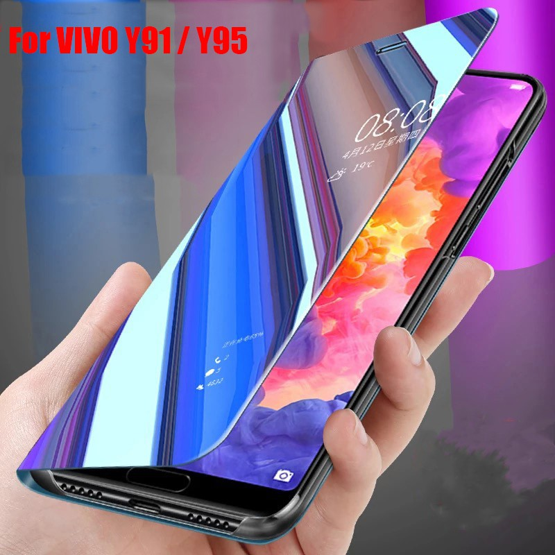 VIVO Y91/Y91i/Y95 Shockproof Flip Mirror Stand Case Cover