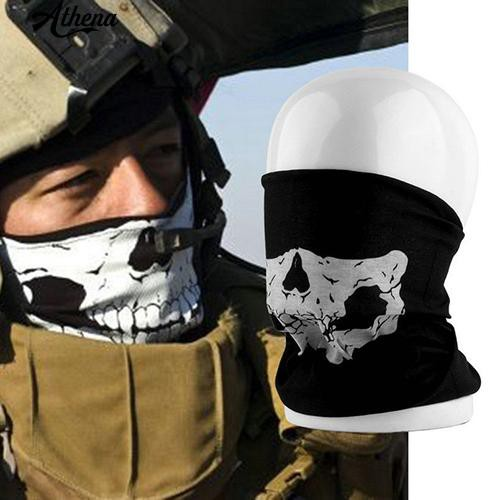[COD] Multi-Use Cool Bike Motorcycle Cycling Skull Neck Warmer Outdoor Half Face Mask