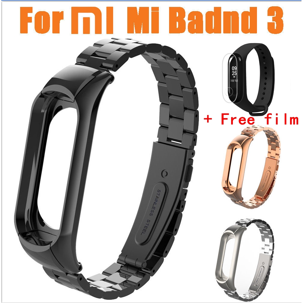 039de99b324 Sports Double Buckle Metal Watch Straps For Xiaomi Mi Band 3 ...