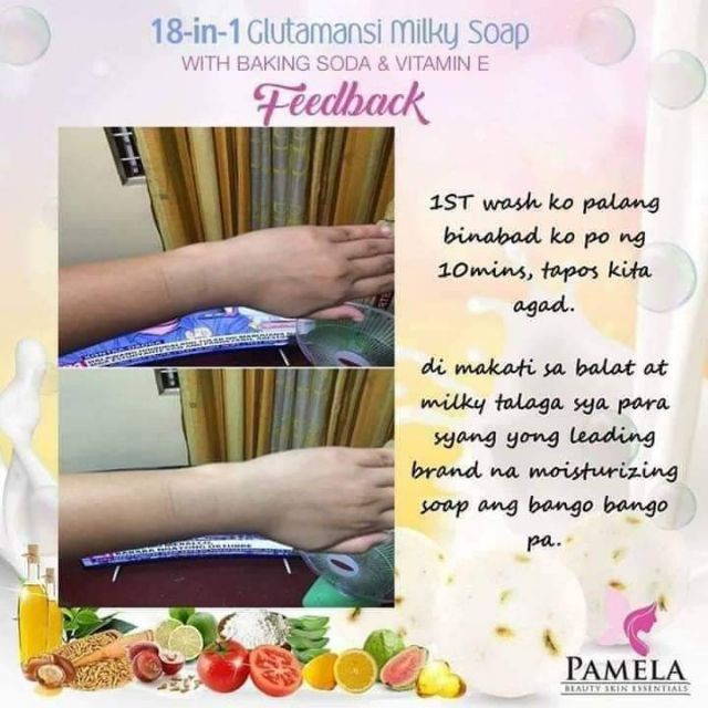 Pamela 18-in-1 Glutamansi Milky Soap