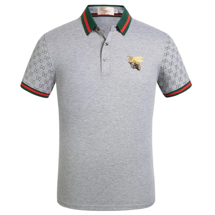 dda6118bf Gucci Men s Embroidery Bee Polo Shirt Short Sleeve Polos