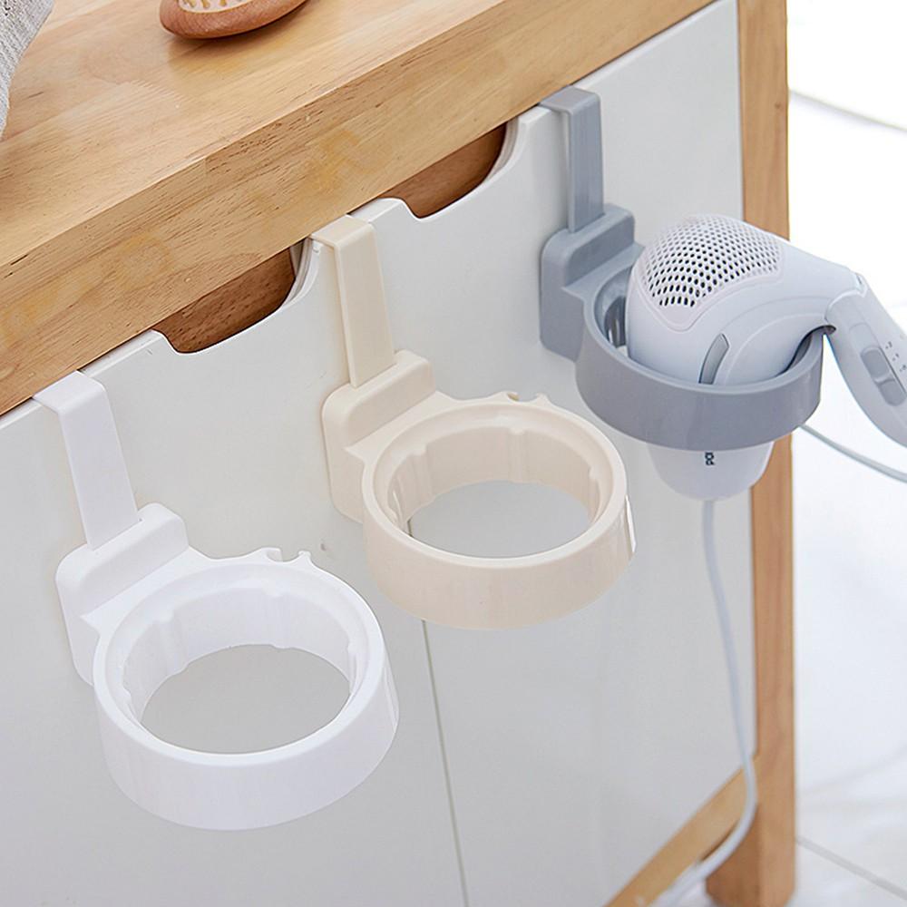 Wall Hair Dryer Holder Rack Space Aluminum Bathroom Wall Holder Shelf Storage