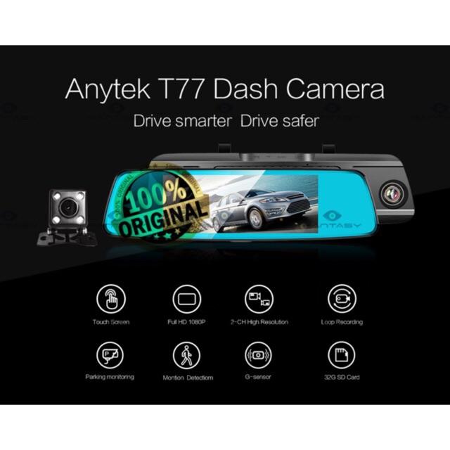 Anytek T77 Car DVR 170 View Dual dashcam with Night Vision