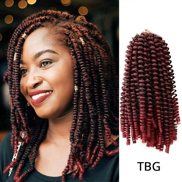 Crochet Braids Braid Hair Extensions Synthetic Short Fluffy Afro Spring Twist Braids Wig Shopee Philippines