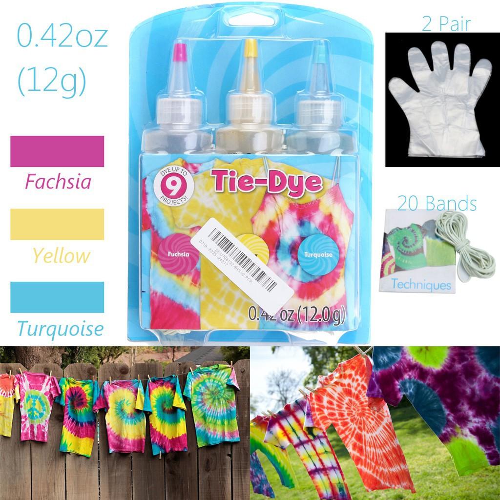 72abadb90d0b Fabric Textile Permanent Paint Colours One Step Tie Dye