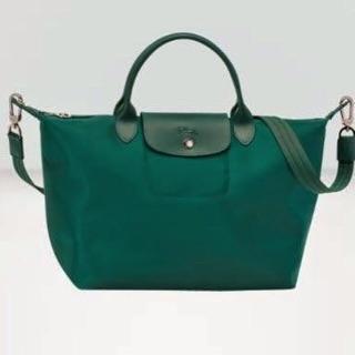 Original Longchamp Le Pliage Neo Medium Short Handle Emerald Green   Shopee Philippines