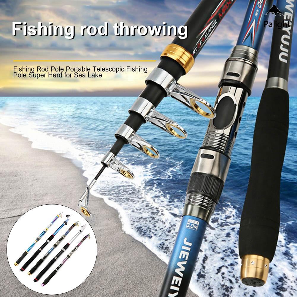 Premium Fishing Rod Spinning Telescopic Carbon Fiber Fishing Pole Ultra Hard New