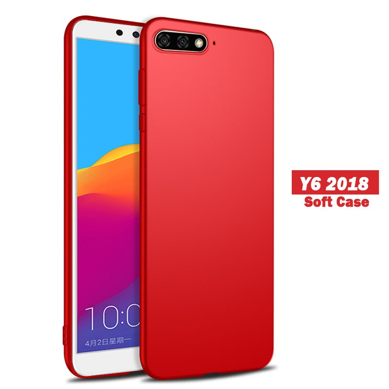 brand new 46e4c c25d3 Huawei Y6 2018 Soft Case | Slim Matte Silicone TPU Cover