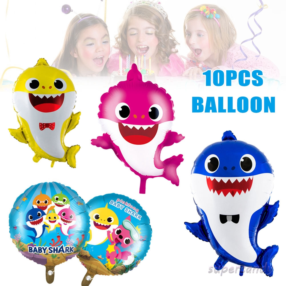 12PCs//Set Cartoon Character Balloon Baby Boys Girls Party Birthday Decoration