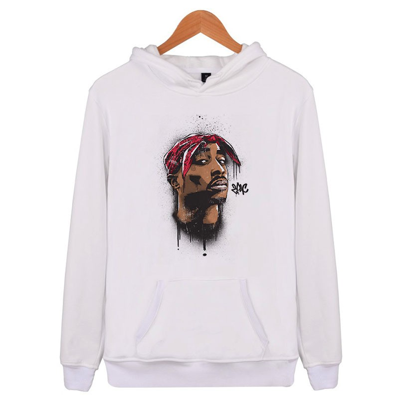 Men Women 3D Print Colorful 2pac Tupac Funny Hoodie Sweater Sweatshirt Pullover