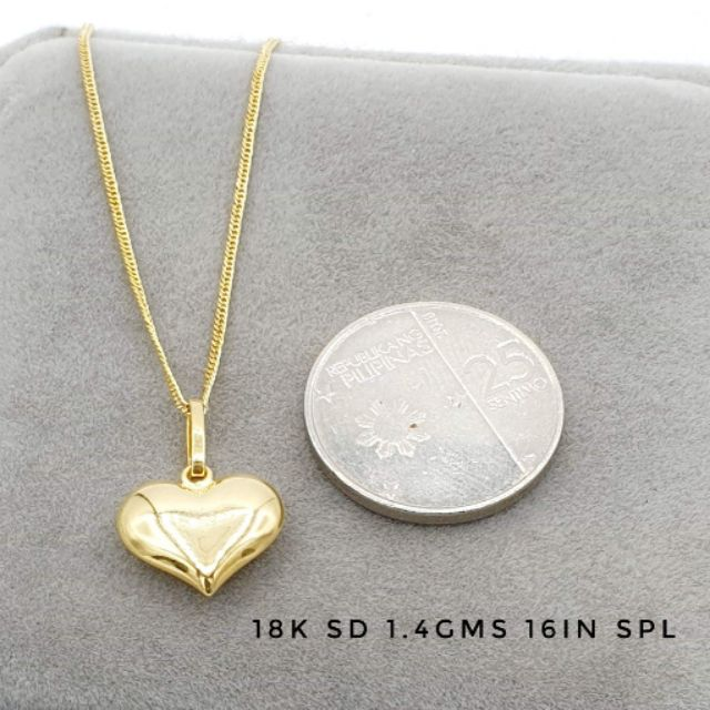 18k Saudi Gold Necklace W Heart Pendant Pawnable Shopee Philippines
