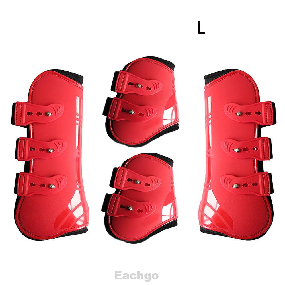 Boots Horse Front Hind Legs Support Tendon Brace Wraps Jumping Running Protector