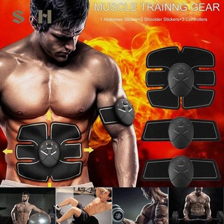 6Pc Exerciser Training Fitness Abdominal Paste Sport Gel Pad