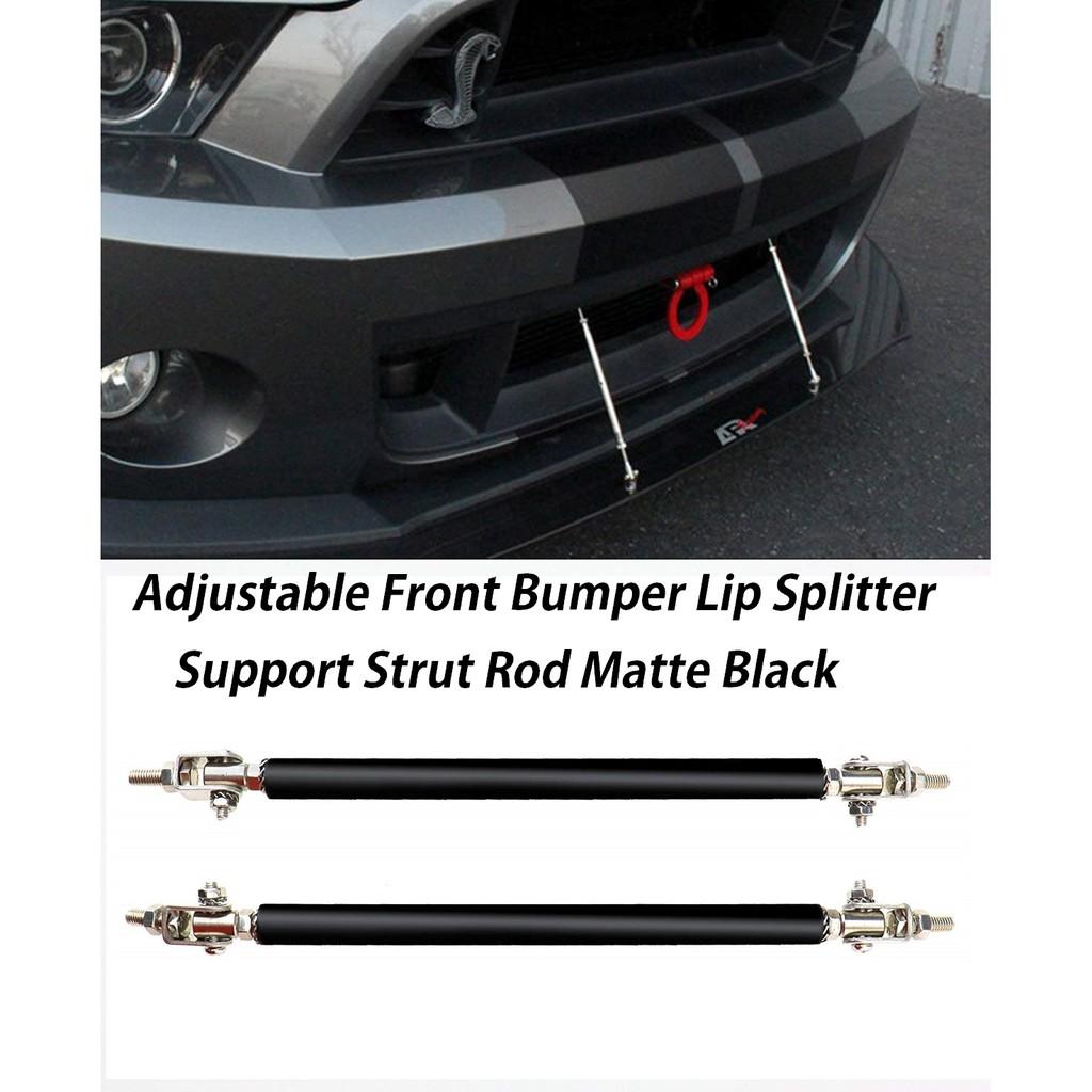 "Black 4/"" Adjustable Rod Tie Bar Support for splitter Bumper Lip Diffuser Spoiler"