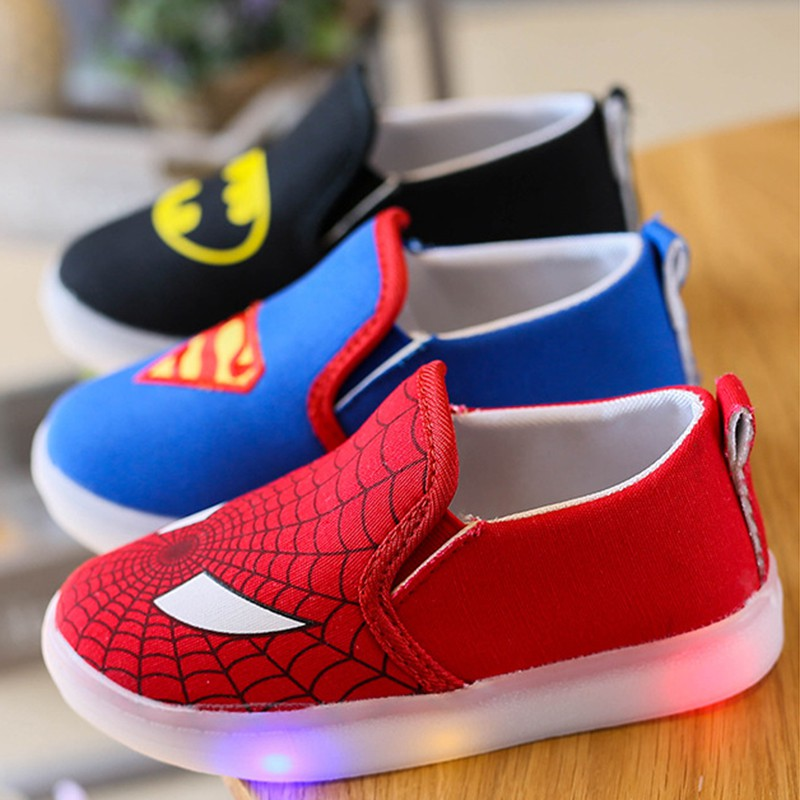 2c5926c06cb Spiderman Led shoes for kids   Shopee Philippines