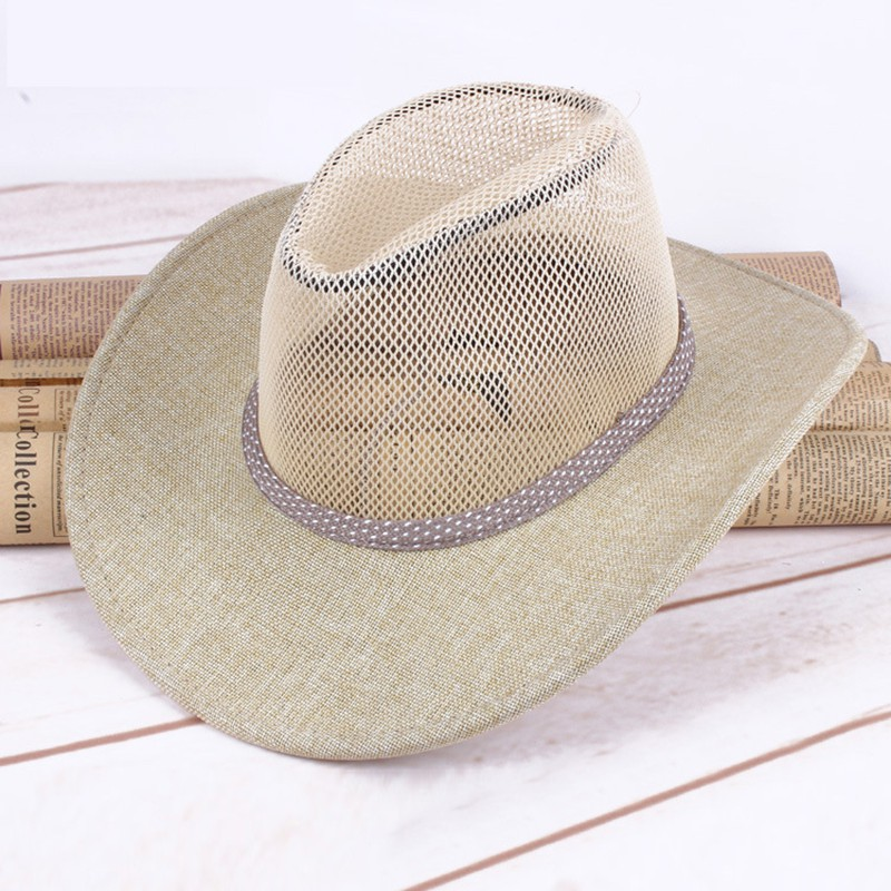 Men Wide Brim Sun Visor Cap Sombreros Autumn Winter Felt Hat Male Cowboy  Caps  7df260361945
