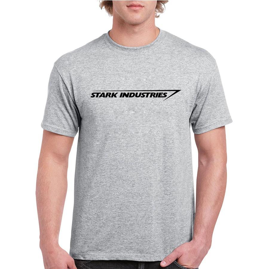 c1a22ad29797 Stark Industries Tony Stark Iron Man T Shirts Casual Novelty Print T-Shirts  Brand Tshirts Top Tees | Shopee Philippines