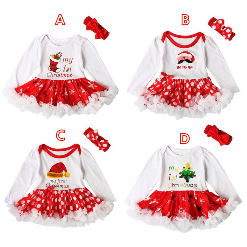 defa15bec ProductImage. ProductImage. Baby Girls Christmas Romper Tutu Dress with  Headband