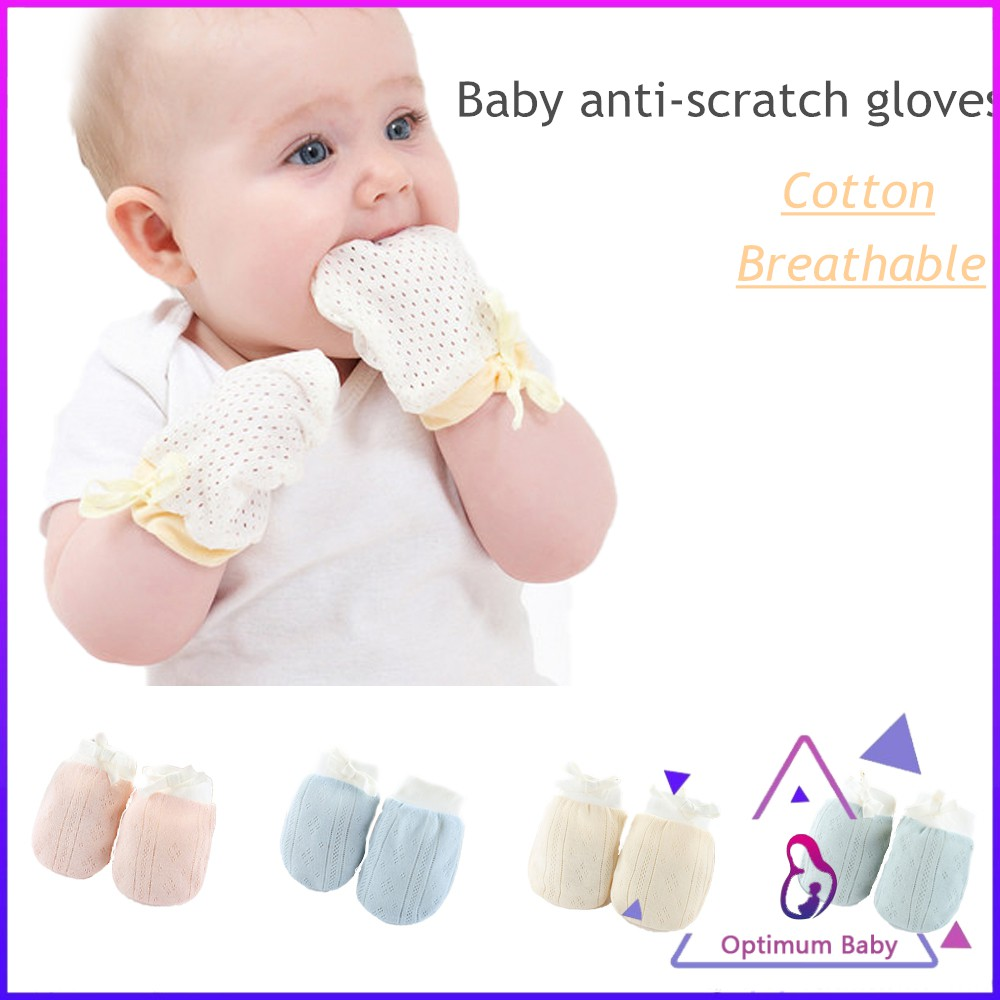 4 Pairs Unisex Newborn Baby Animal Heart No Scratch Cotton Gloves Mittens USA