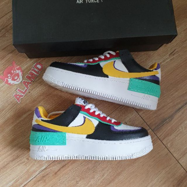 Nike Air Force 1 Shadow White Black Red Yellow Green Purple For Women Shopee Philippines Nike air force 1 mid 07 lv8 red winter. nike air force 1 shadow white black red yellow green purple for women