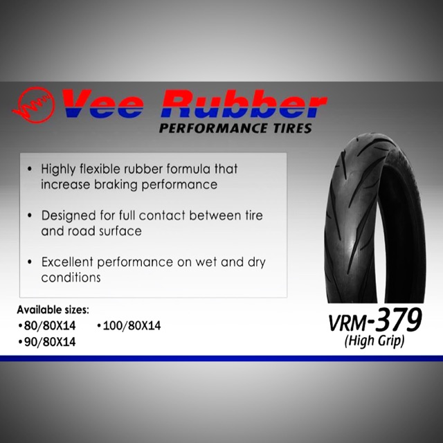 100x80x14 vee rubber tubeless