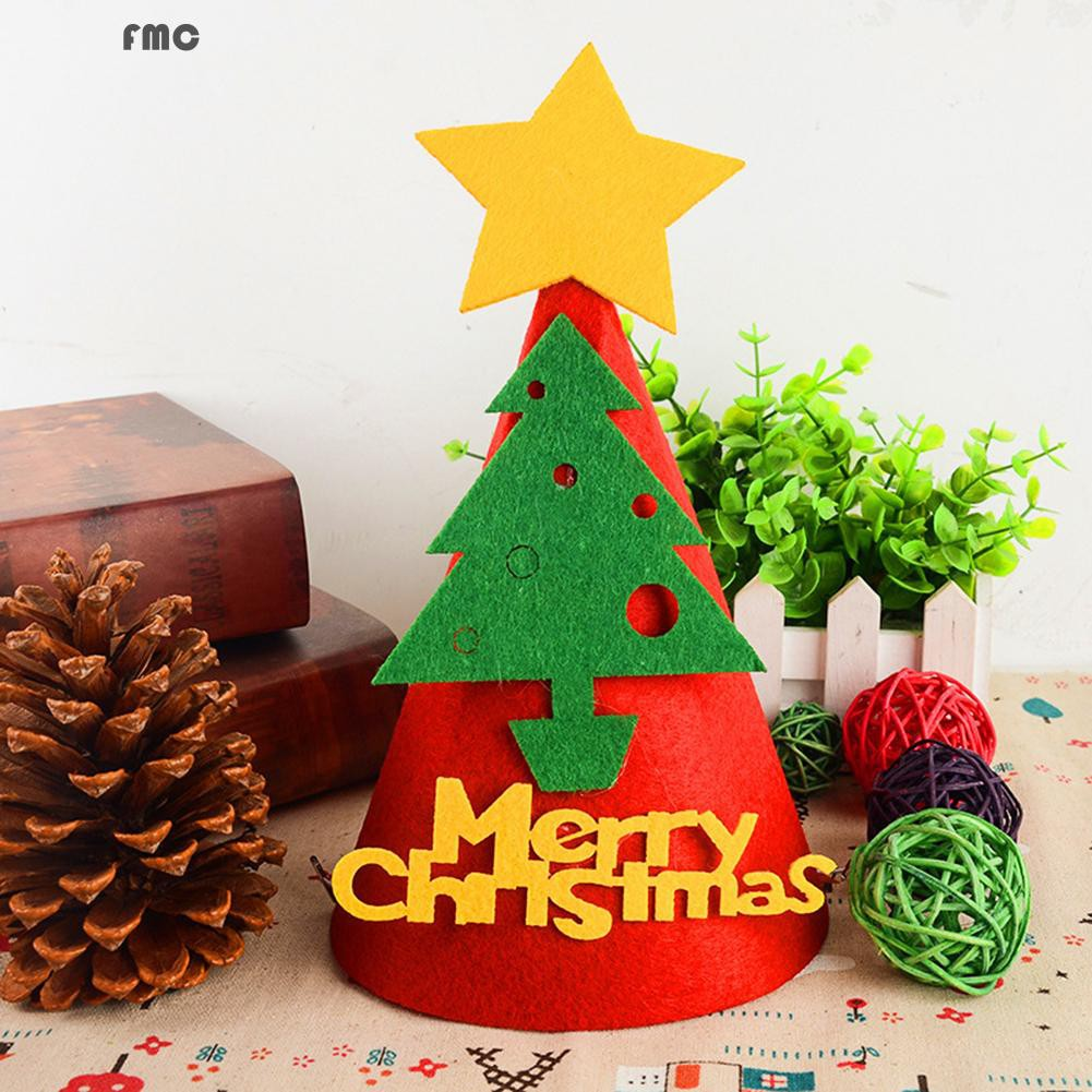 1pc Christmas Tree Hat Glove Shape Cup Cushion Holder Drink Placemat