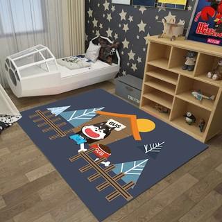 penjaga kedai mencari karpet ruang tamu bilik tidur kartun